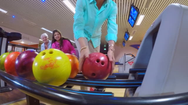 senior women bowling - 60 64 years stock videos & royalty-free footage
