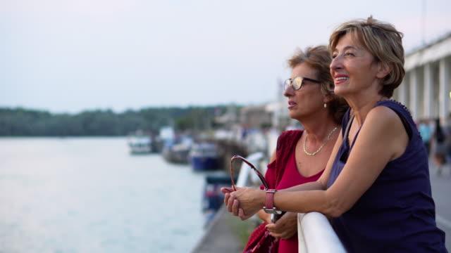 senior women exploring the city - europe tourist stock videos & royalty-free footage