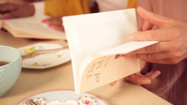 senior women meet for book club - high tea stock videos and b-roll footage