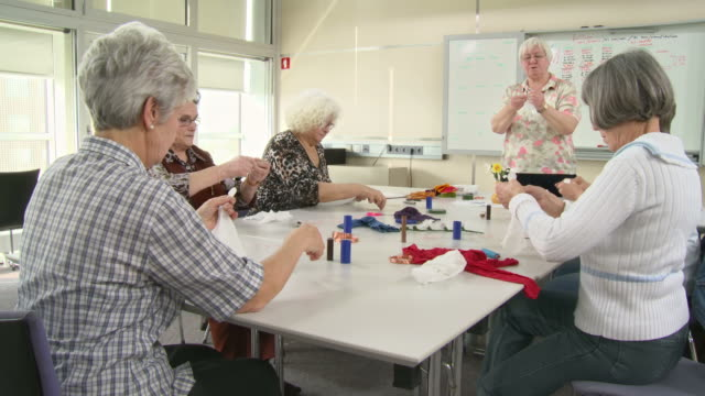 HD: Senior Women Participatin Craft Class