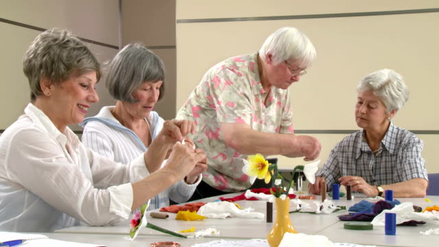 HD: Senior Women Participating Craft Class
