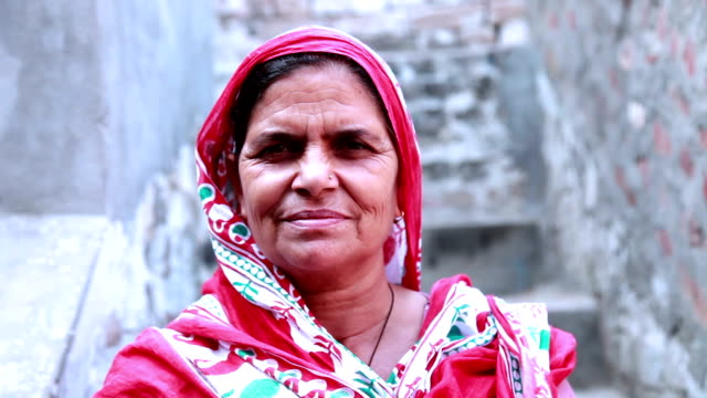 senior women portrait - india video stock e b–roll
