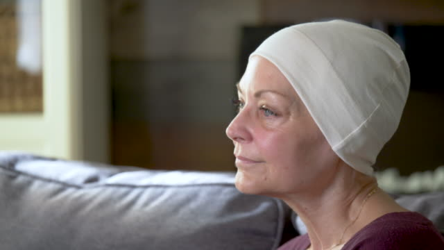 A senior women recovering from cancer