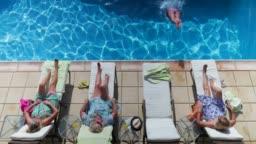 Senior Women Relaxing on Holiday