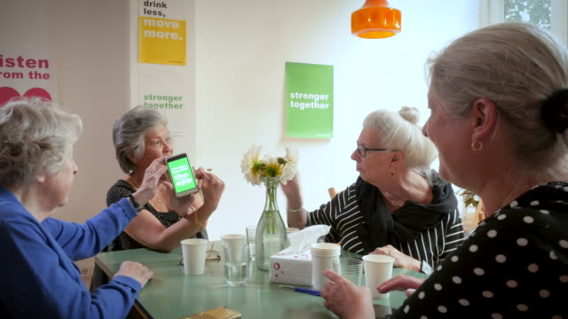 senior women support group gathering - amsterdam stock videos & royalty-free footage