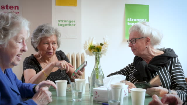 Senior women support group gathering
