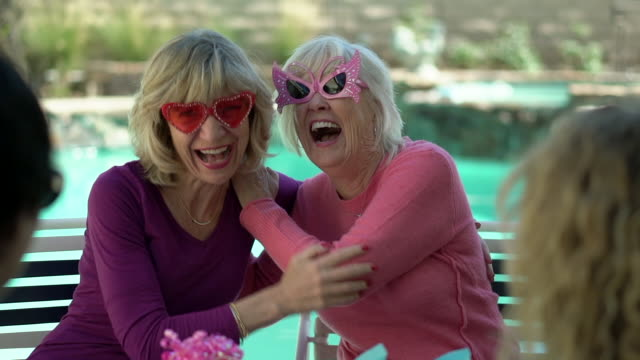 ms senior women wearing funny sunglasses and laughing - over 80 stock videos & royalty-free footage