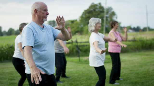 seniors being active - mindfulness stock videos & royalty-free footage