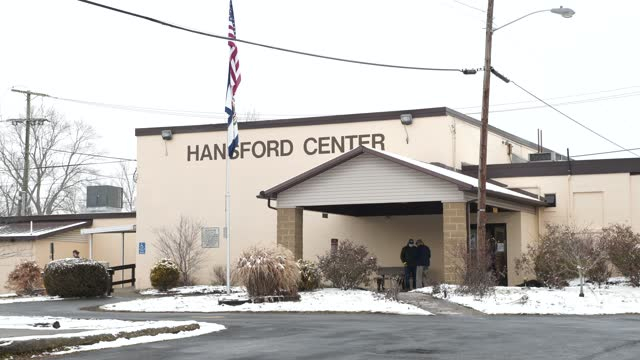 seniors enter the hansford senior center to receive their vaccines in st. albans, west virginia on february 12, 2021. familycare health centers... - health and safety stock videos & royalty-free footage