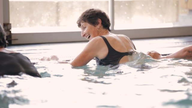 HA Seniors exercising in a pool / Vancouver, British Columbia, Canada