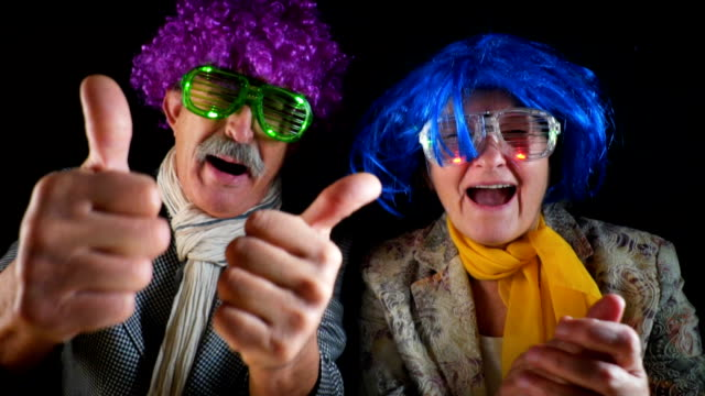 seniors having party - terza età video stock e b–roll