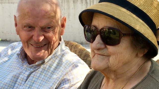 Seniors Socializing Outdoors