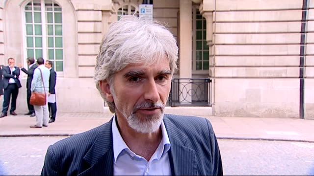 """vidéos et rushes de senna"""" film premiere: interviews and red carpet arrivals; ext damon hill speaking to reporters damon hill interview sot sot - it is amazing / 17... - agression"""