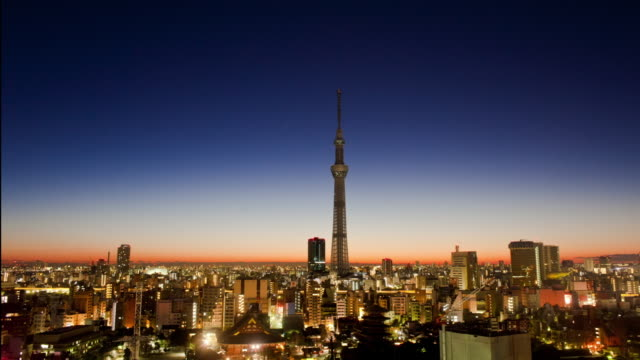 Sensoji temple and Tokyo Skytree Tower in Tokyo, Japan