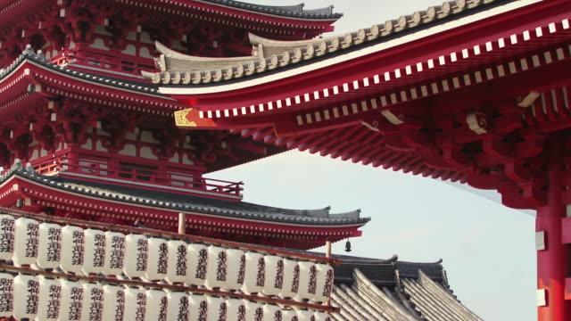 vídeos y material grabado en eventos de stock de sensoji temple, asakusa tokyo japan. - pagoda templo