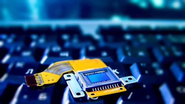 CCD sensor on a keyboard