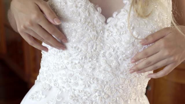 sensual bride - wedding dress stock videos and b-roll footage