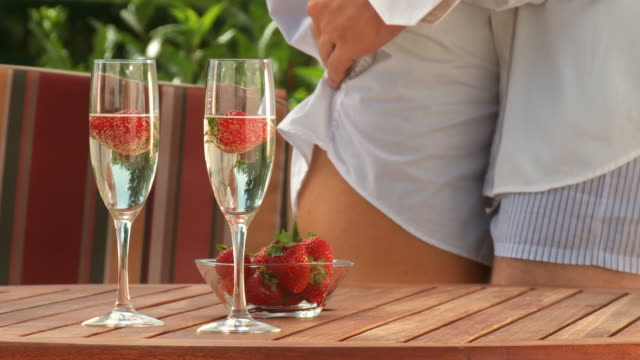 hd dolly: sensual dance with champagne and strawberries - desire stock videos & royalty-free footage