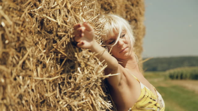 hd dolly: sensual woman enjoying summer breeze - artist's model stock videos and b-roll footage