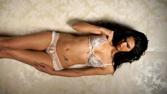sensual woman in underwear - panties stock videos and b-roll footage