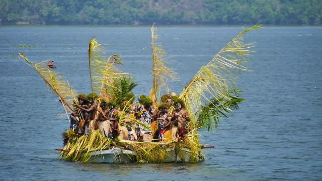 sentani lake festival papua. - indonesian culture stock videos & royalty-free footage
