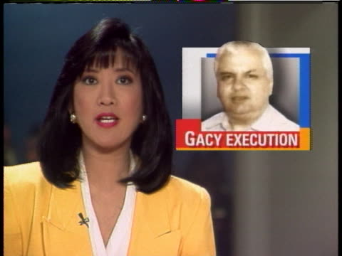 sentenced to death, john wayne gacy spent 14 years on death row before executed by lethal injection. in 1980, gacy was convicted of sexual assault... - hinrichtung stock-videos und b-roll-filmmaterial