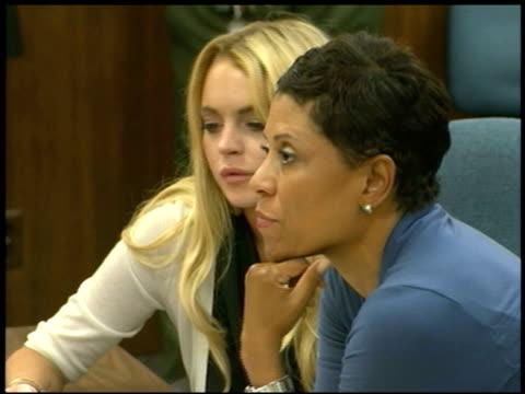 sentencing of lindsay lohan at the lindsay lohan court sentencing at beverly hills ca. - sentencing stock videos & royalty-free footage