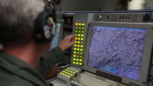sentry air surveillance aircraft supporting counterterrorism efforts from forward operating base in konya turkey by the global coalition to defeat... - konya stock videos and b-roll footage