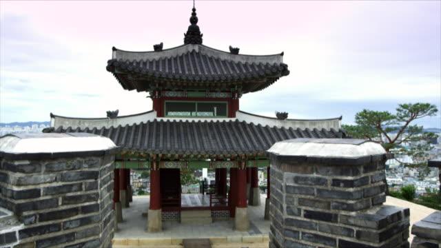 seojangdae pavilion at suwon hwaseong castle (unesco world heritage site) - suwon stock videos and b-roll footage