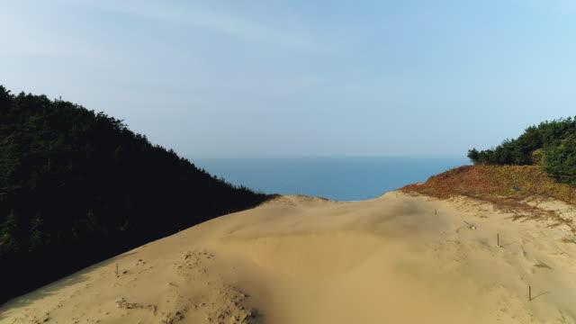 seongchon beach and sand hill in uido island / sinan-gun, jeollanam-do, south korea - geschützte naturlandschaft stock-videos und b-roll-filmmaterial
