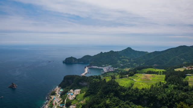 seonginbong mountain in ulleungdo island - north gyeongsang province stock videos and b-roll footage