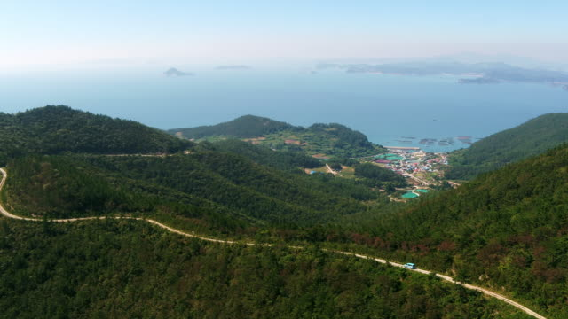 seoseonghang port in saengildo island / wandogun, jeollanam-do, south korea - jeollanam do stock videos & royalty-free footage