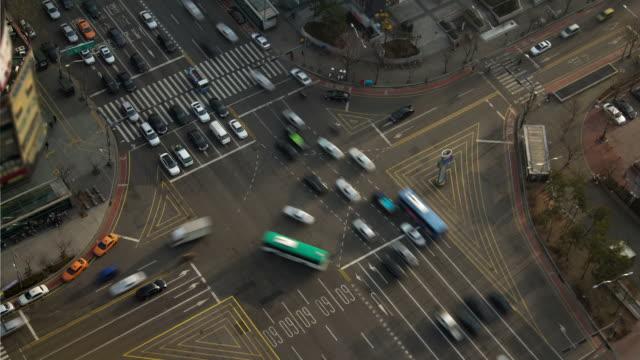 vídeos y material grabado en eventos de stock de seoul city - lapso de tiempo de tráfico