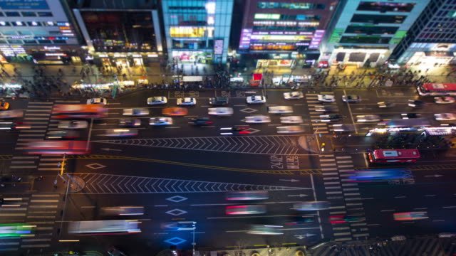 seoul city - tilt shift stock videos and b-roll footage