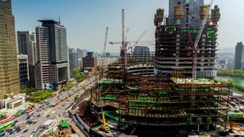 seoul city - bridge built structure stock videos & royalty-free footage