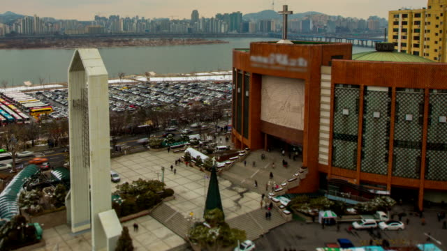 seoul city yoido full gospel church - getting out stock videos & royalty-free footage