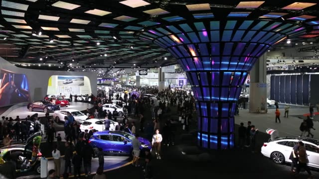 seoul motor show in goyang south korea on thursday march 30 attendees wear virtual reality headsets while on a simulator - goyang stock videos and b-roll footage