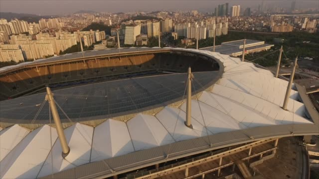 seoul soccer stadium in mapo-gu district, seoul, south korea - international team soccer stock videos & royalty-free footage