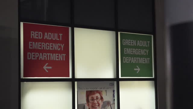separate entrances for covid and non covid patients at the emergency department of royal derby hospital - casualty stock videos & royalty-free footage