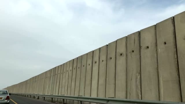 separation fence between israel and the palestinian territories. - israel stock videos & royalty-free footage