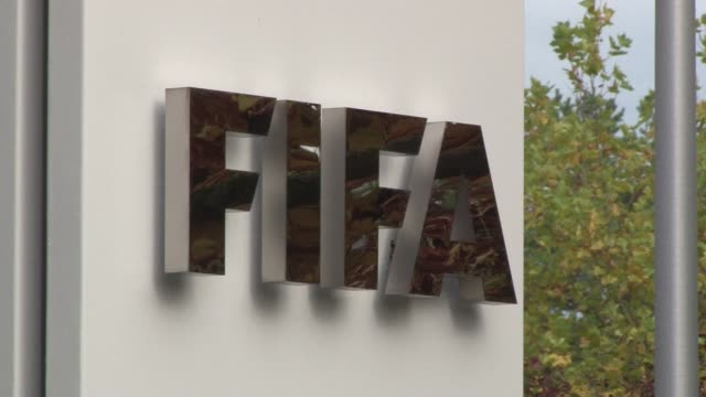 sepp blatter on tuesday resigned as president of fifa as a mounting corruption scandal engulfed world footballs governing body - fifa stock videos & royalty-free footage