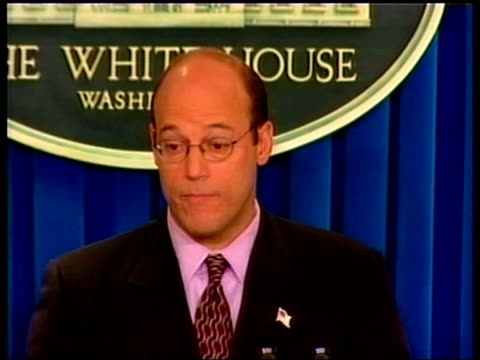 22 terrorists named pool usa washington dc ari fleischer press conference sot at bests its pretaped prerecorded propaganda at worst he could actually... - 2001 stock-videos und b-roll-filmmaterial