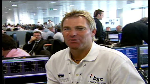 five years on shane warne interview sot sounds like i've just appealed and the umpires are yelling at me 'not out' - 2006 stock videos & royalty-free footage