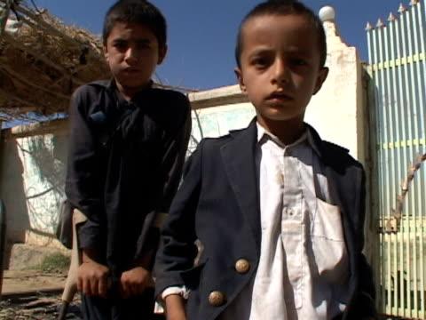 September 15 2005 MS TD Portrait of boys who lost leg in mine field / Afghanistan / AUDIO