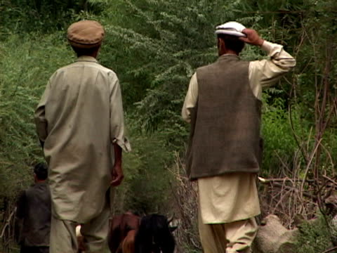 September 15 2005 WS ZO Villagers walking outdoors / Chitral Pakistan / AUDIO