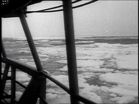 september 2, 1954 montage a large ship breaking through the ice of the northwest passage / canada - 1954 stock videos & royalty-free footage