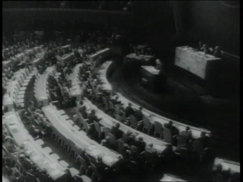 stockvideo's en b-roll-footage met september 29 1960 ha general assembly of united nations in session / new york city new york united states - united nations