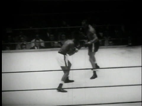 september 3 1958 ws tony anthony knocking mcbride to the mat and mcbride getting up while the referee is still counting / syracuse new york united... - syracuse stock videos & royalty-free footage