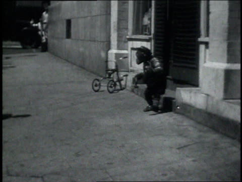 september 7, 1931 ws chimpanzee spinning around in the street and acting drunk / atlanta, georgia, united states - 1931 stock videos & royalty-free footage