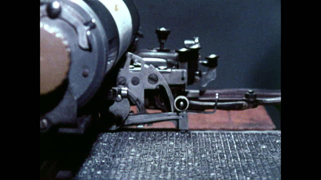 seq. cu chinese typewriter in operation; 1973 - printing out stock videos & royalty-free footage